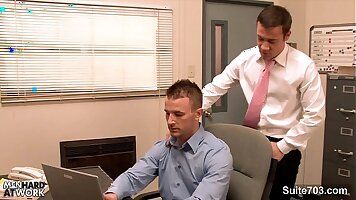 Office men ass fucked gay movies Seb and Nikolki get it in their
