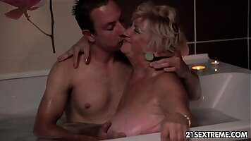 granny huge cock before anal