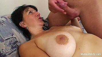 Classy granny pussypounded by younger stranger