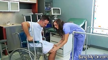A doctor is getting anally hammered by his patient