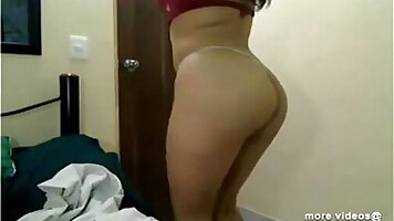 Beautiful Indian chick gets fucked by her man on cam