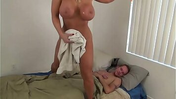 Soccer mom loves to watch her son play by hook orgged
