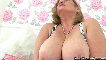 british MILF playing with toys