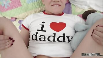 Stepdaughter pledges she will steal cock for dad