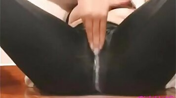 Asian school girl teasing with squirting pussy