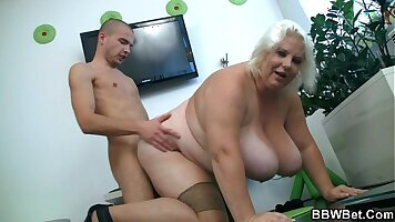 Blonde likes to have analsex