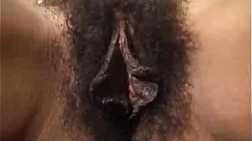 Hairy clit gets pounded
