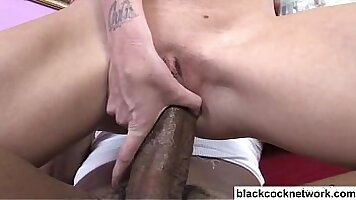 Damn hot blonde getting her pussy and ass fucked