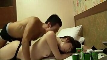 Buxom Korean beauty sucks several hot guys with her tools