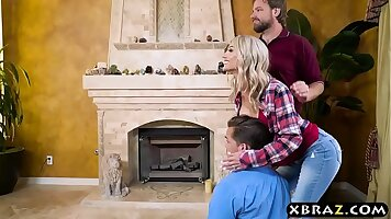Lewd stepmom anal fucked by hubby