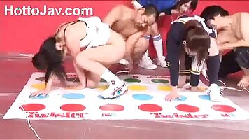 lucky guy sits on the faces of Japanese teens Ryuu Takeshi and Rodei