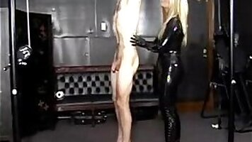 extreme fucking from a hot girl in a red latex bottom so beautiful
