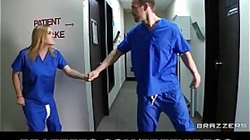 Horny blonde slut tricked by Doctor
