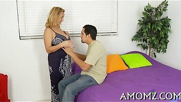 MOM milf bent over and screwed by powerful man