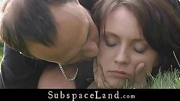 Outdoor sex with hot oriental slave