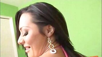 Brunette naked her sexy ass fucked hard and bouncing
