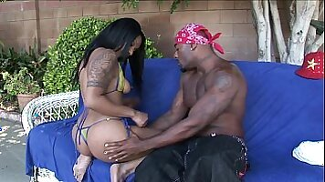 Devon Grey gets his monster black cock riding here face