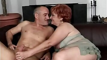Blonde granny destroyed by her horny stepson