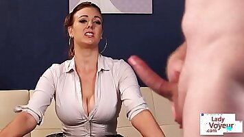 Voyeur movie of beautiful busty British Chubby girl at large private sex porn